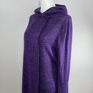 Lululemon Peace of Mind Hooded Wrap Cardigan Cashmere Blend Tender Violet Size 6